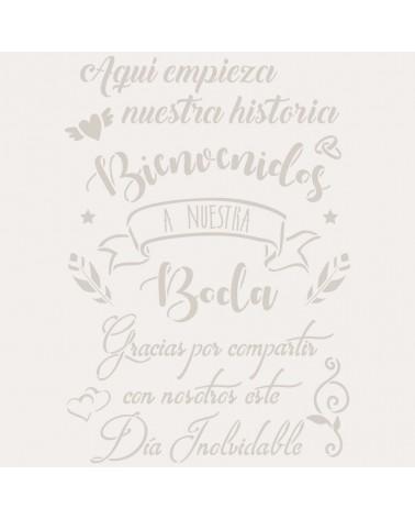 Stencil Fiesta 038 Cartel Boda