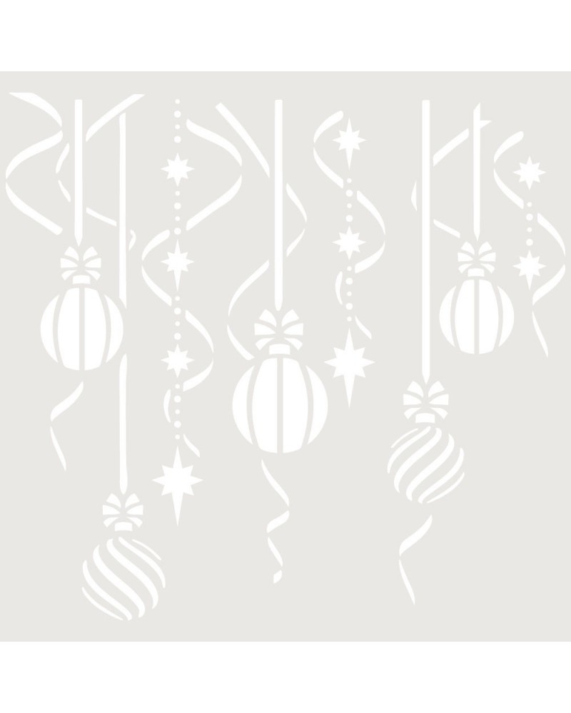 Stencil Fiesta 042 Bolas Navidad