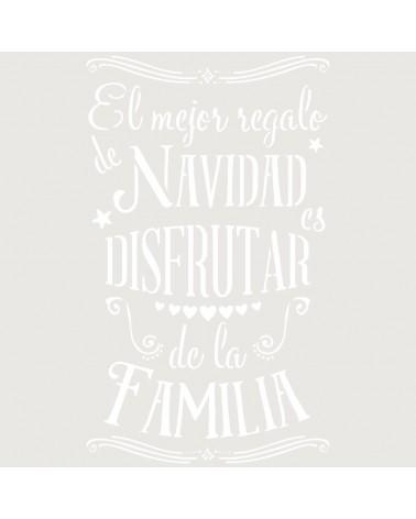 Stencil Fiesta 043 Texto Navidad