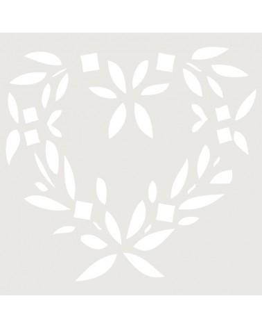 Stencil Figura 005 Corazon Hojas