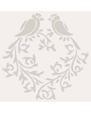 Stencil Figura 006 Corazon Pajaros