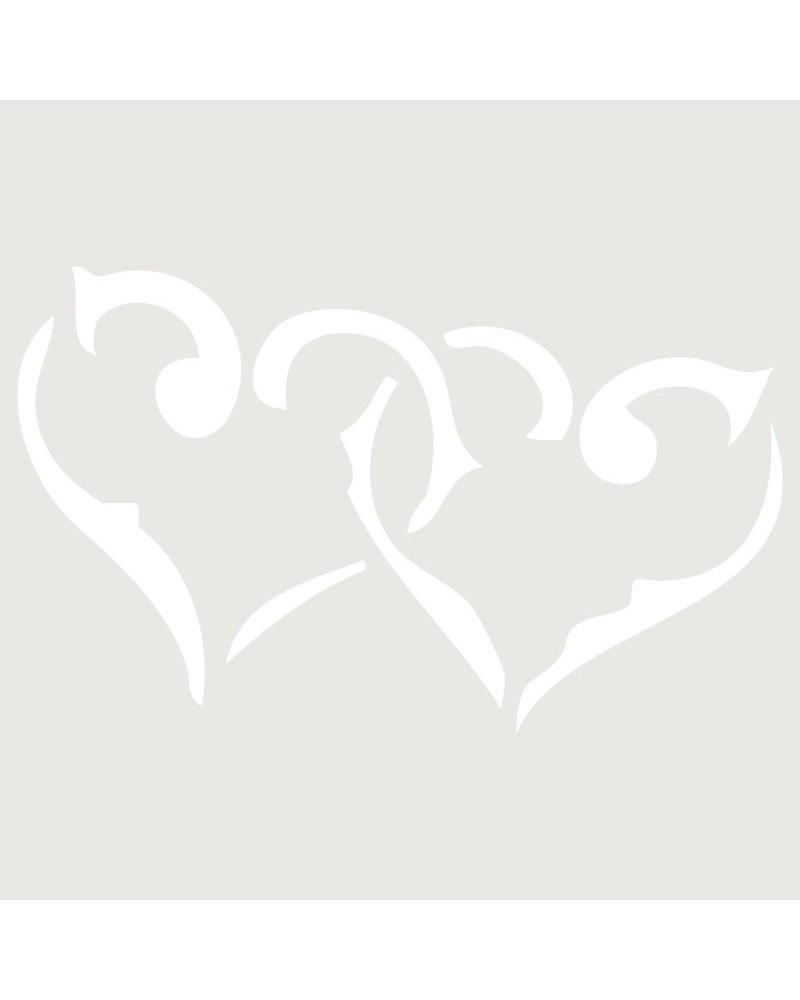 Stencil Figura 007 Dos Corazones