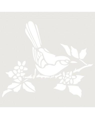 Stencil Figura 009 Pajaro En Rama
