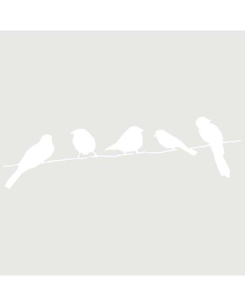 Stencil Figura 010 Pajaros En Rama