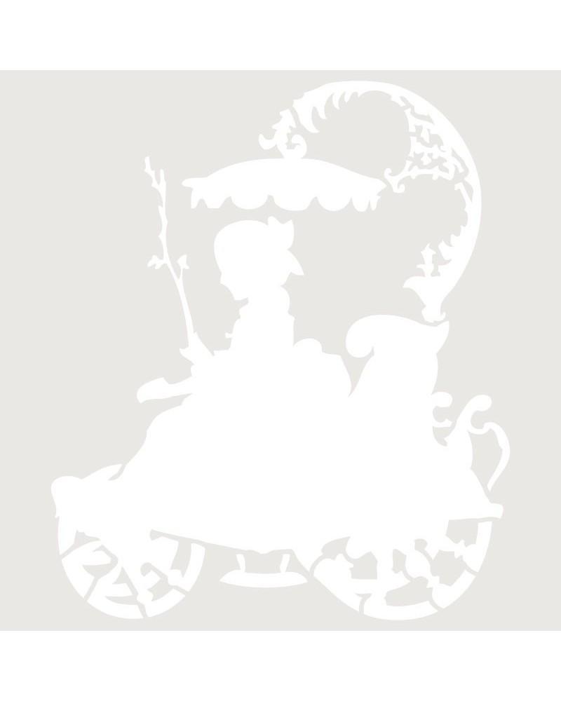 Stencil Figura 014 Mujer En Coche