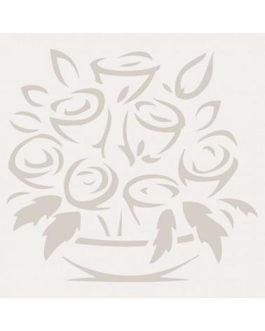 Stencil Figura 016 Centro De Flores