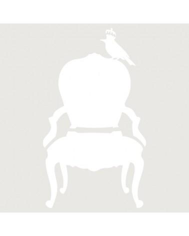Stencil Figura 034 Silla Con Pajaro
