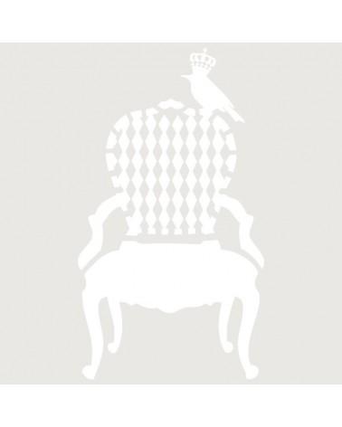 Stencil Figura 035 Silla Con Pajaro