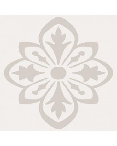Stencil Floral 002 Flor Vintage