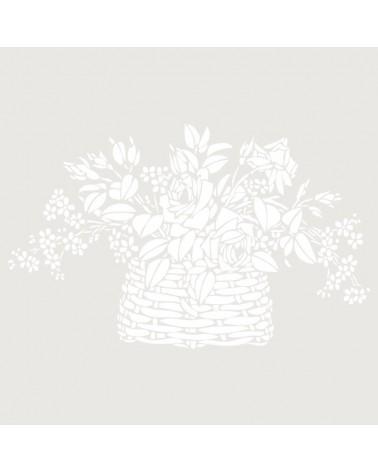 Stencil Floral 003 Cesta De Flores
