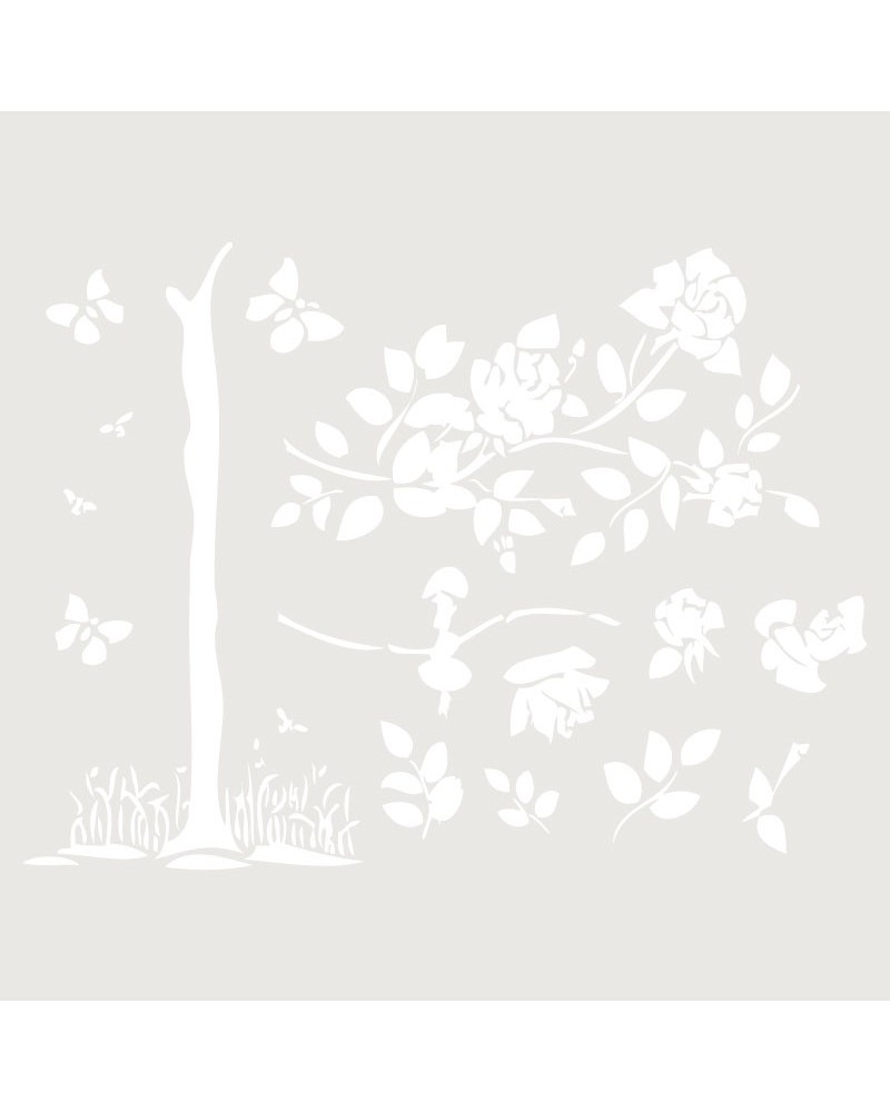 Stencil Floral 005 Arbol