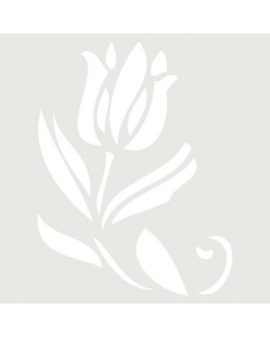 Stencil Floral 006 Flor Tulipan