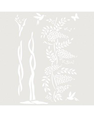Stencil Floral 008 Composicion Floral