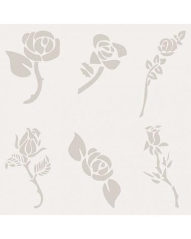 Stencil Floral 011 Grupo Rosas