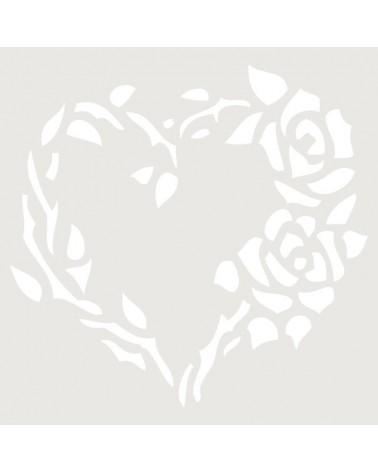 Stencil Floral 013 Corazon De Rosas