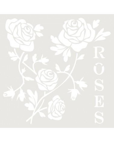 Stencil Floral 015 Roses