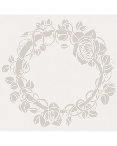 Stencil Floral 024 Rueda Rosas
