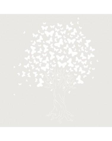 Stencil Floral 030 Arbol Mariposas
