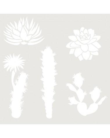 Stencil Floral 034 Cactus