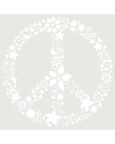 Stencil Floral 035 Simbolo Paz