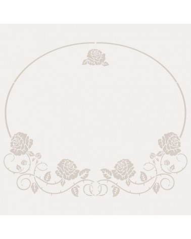 Stencil Floral 036 Oval