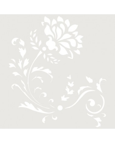 Stencil Floral 038 Flor Arabesco