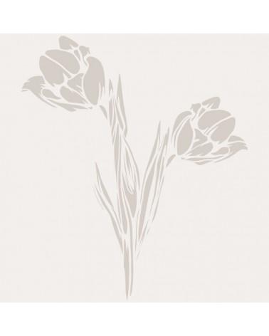Stencil Floral 040 Tulipanes