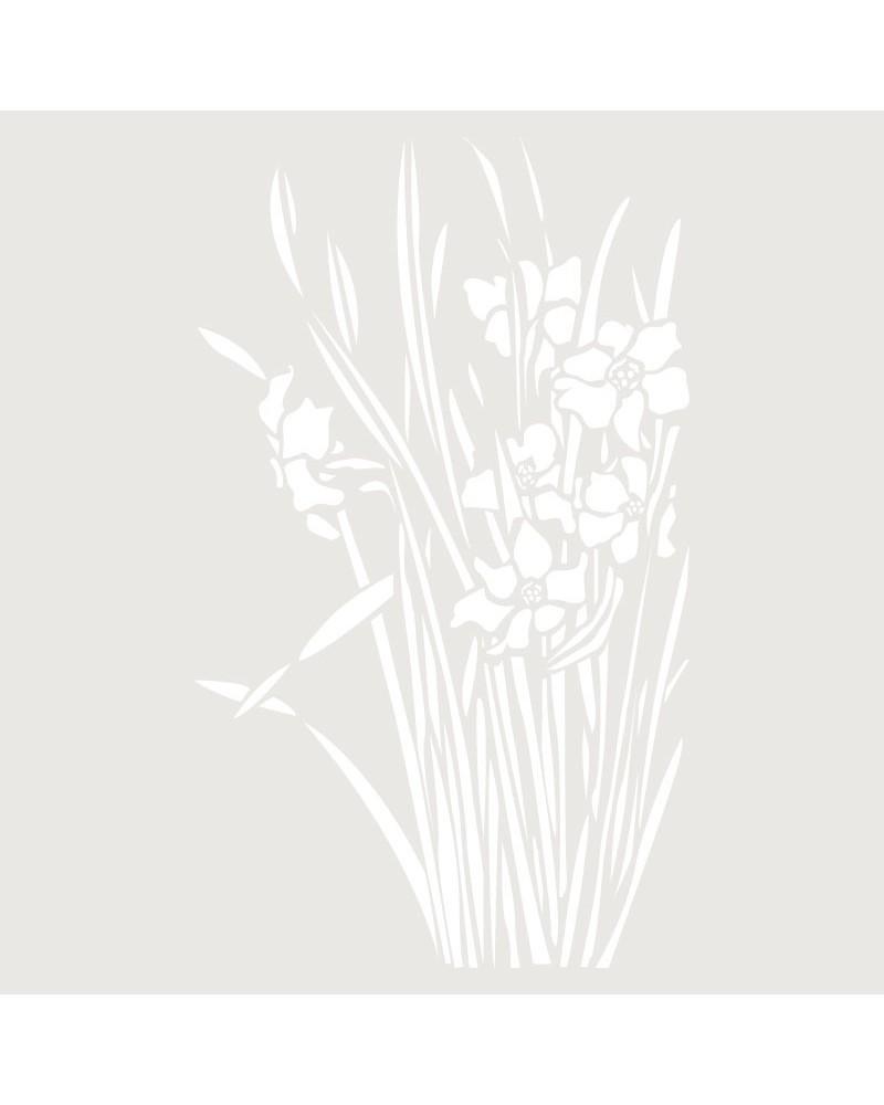 Stencil Floral 044 Narcisos