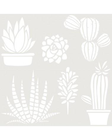 Stencil Floral 048 Cactus