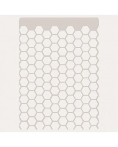 Stencil Fondo 008 Panel Hexagonos