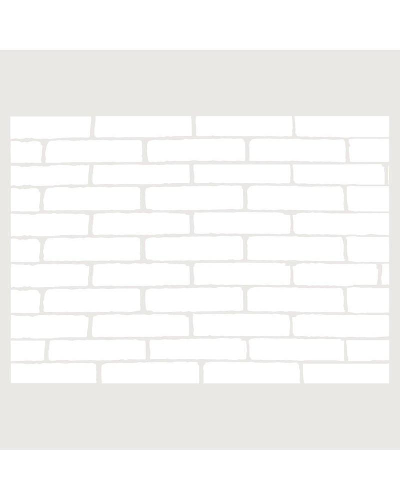 Stencil Fondo 045 Muro De Ladrillos