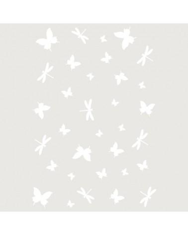 Stencil Fondo 059 Libelulas Y Mariposas