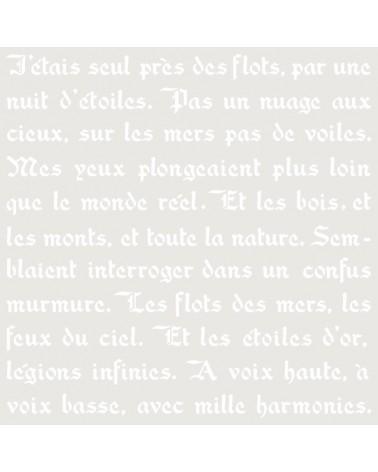 Stencil Fondo 063 Poesia Frances