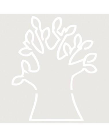 Stencil Infantil 001 Contorno Arbol