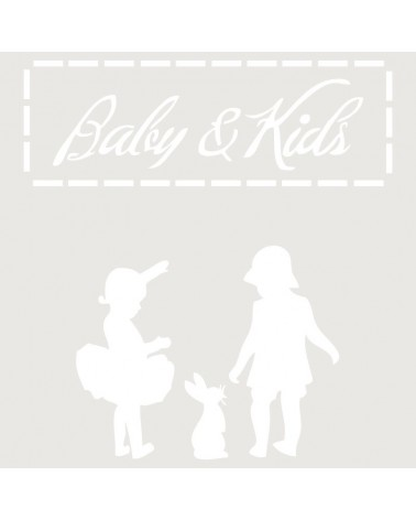 Stencil Infantil 002 Baby And Kids