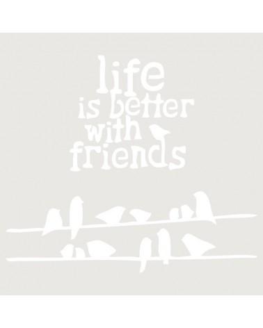 Stencil Infantil 006 Pajaritos Life Is