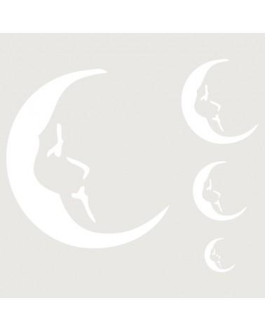 Stencil Infantil 012 Lunas