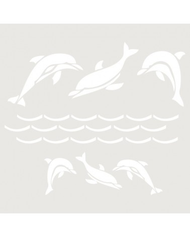 Stencil Infantil 014 Delfines