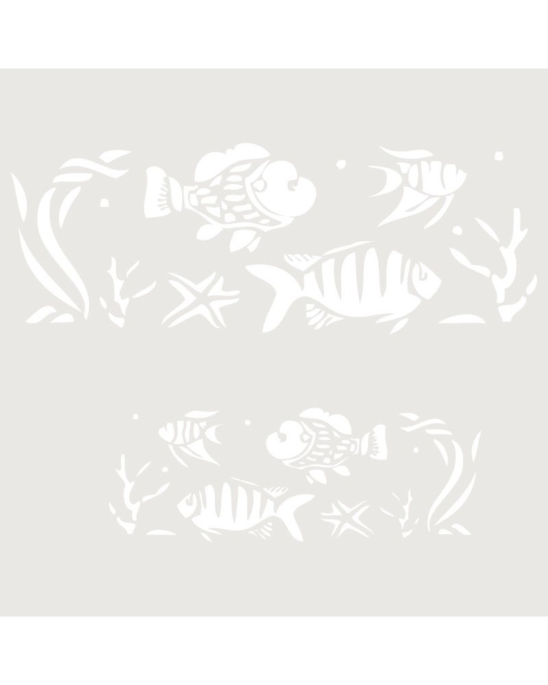 Stencil Infantil 015 Peces