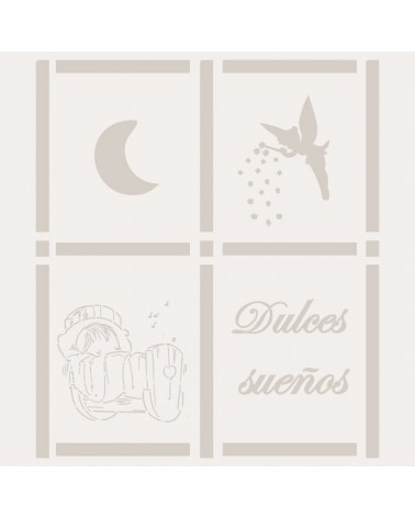 Stencil Infantil 018 Dulces Sueños