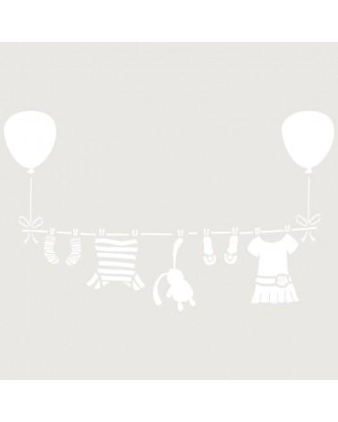 Stencil Infantil 019 Tendido Globos