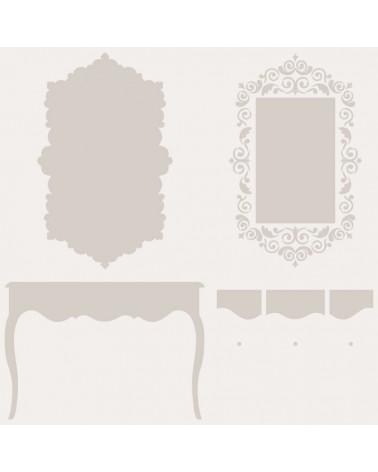 Stencil Multicapa 003 Mueble espejo