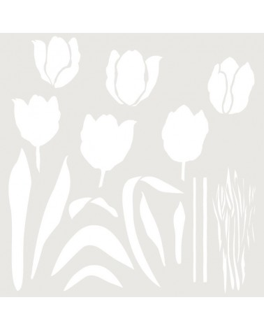 Stencil Multicapa 006 Tulipanes