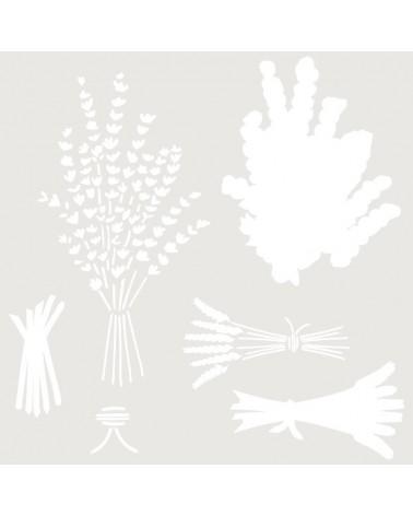 Stencil Multicapa 007 Lavanda trigo