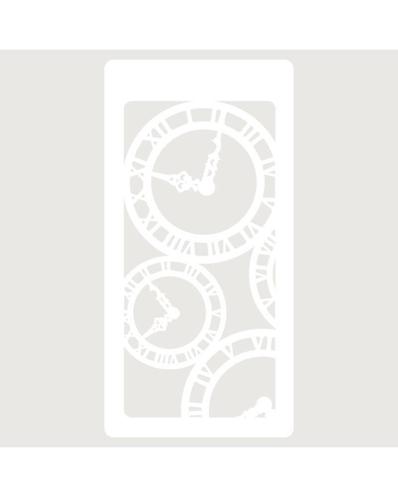 Stencil Scrapbooking 008 Relojes