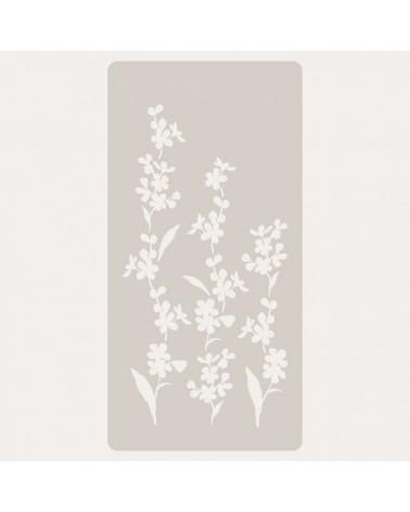Stencil Scrapbooking 054 Flores