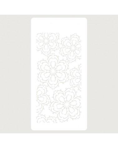 Stencil Scrapbooking 055 Copos floral