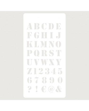 Stencil Scrapbooking 059 Abecedario Industrial