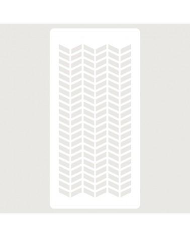 Stencil Scrapbooking 069 Rectangulos Zigzag
