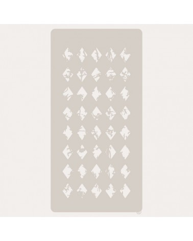 Stencil Scrapbooking 074 Rombos imperfectos